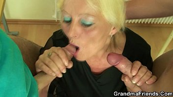 chubby granny plays with her horny hubby