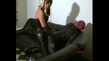 mature femdom drills babe with strapon