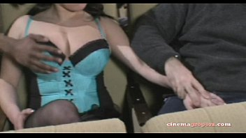 milf blowjob and handjob in fishnets