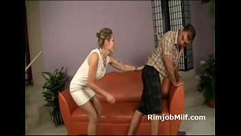 big ass brunette in high heels gets fucked and jizzed on her trimmed pussy