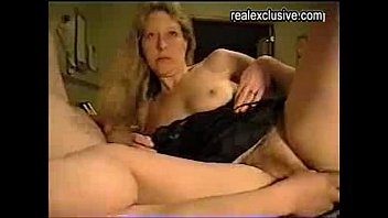 sub blonde mature gets her hairy cunt drilled hard by her hubby