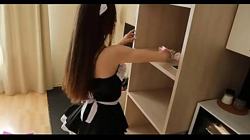 horny maid fulfills her sexual needs